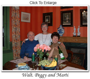Walt, Peggy, and Marti in England